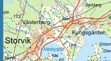 Exempel från Översiktskartan