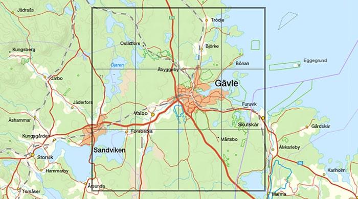 Karta Sverige Borlange.Lantmateriet